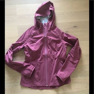 Lululemon dark blush pink rain jacket adjustable 8